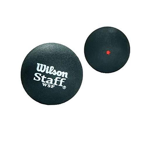 Wilson Unisex's STAFF SQUASH BALL RED DOT Black, One Size