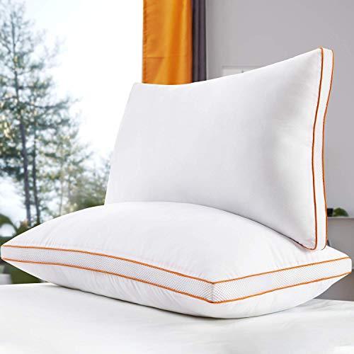 Maxzzz Pillows for Sleeping 2 Pack, King Size Down Alternative Bed Pillow, 3D Mesh Gusseted Pillow with Plush Fiber…