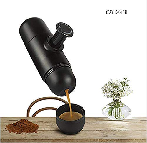 Portable Espresso Coffee Minipresso Maker Cup Machine Mini Manual by Pressopump Handheld Travel Bottle Lightweight Perfect for Home Outdoors & Office by flyteeth