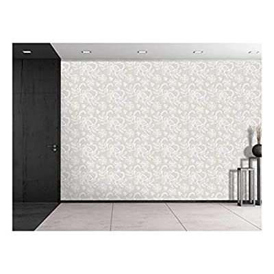 Large Wall Mural - Lace Style Seamless Pattern | Self-Adhesive Vinyl Wallpaper/Removable Modern Decorating Wall Art - 100