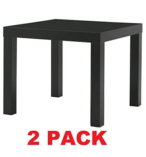 Ikea Table End Side Black 2 Pack Lack