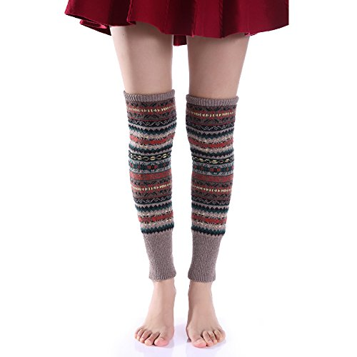How Knit Arm Warmers To - HotSan Bohemia Socks,Christmas Legwear,Winter Accessories,Acrylic,Brown