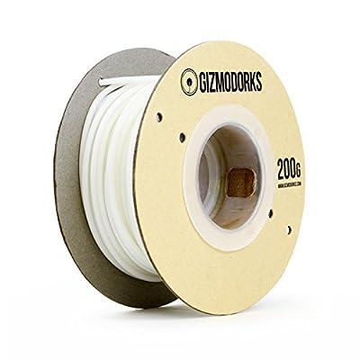 Gizmo Dorks PETG Filament for 3D Printers 1.75mm 200g, White