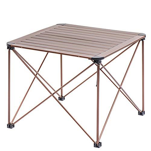 EmmmE Mesa Plegable de Aluminio para Exterior, Mesa portátil para ...