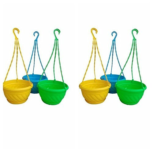 Dhavesai 6 Inch Hanging Pot Multicolour (Set Of 6) product image