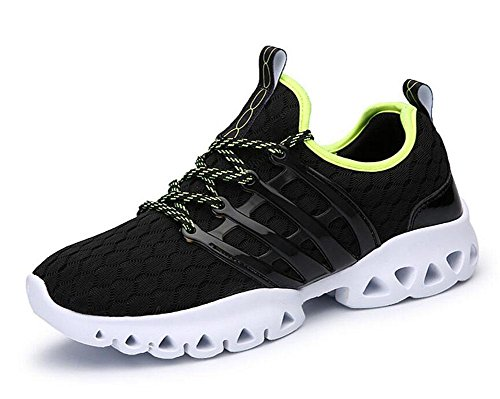SHIXR Hommes Printemps Couple Casual Sports Hommes Chaussures Mode Respirant Mesh Tissu Pieds Souliers Casual Chaussures de course Chaussures de basket-ball , black , 41