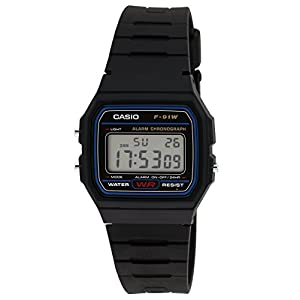 Casio Youth-Digital Black Small Dial Men's Watch – F-91W-1DG (D002)
