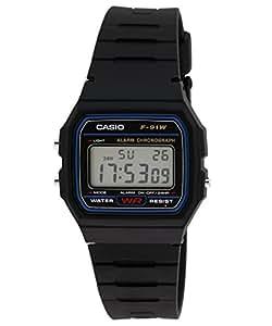 Casio Black Classic Digital  F91W-1 Watch