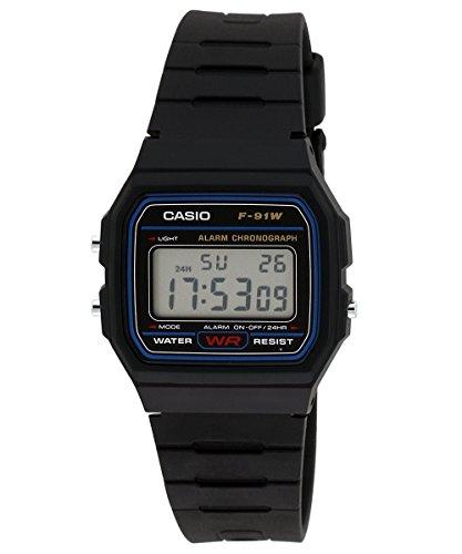 Casio Youth Digital Black Small Dial Unisex Watch – F-91W-1DG (D002)