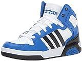 adidas NEO Boys' BB9TIS K Sneaker, White/Black/Blue, 2.5 Medium US Little Kid