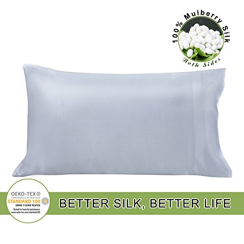 LILYSILK 19 Momme Pure Mulberry Silk Pillowcase Both Sides f
