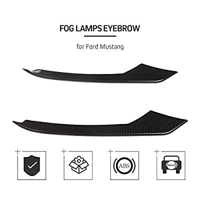Car Front Fog Light Lamp Eyebrow Strips Trim Cover for Ford Mustang 2015-2020 (Carbon fiber): Automotive