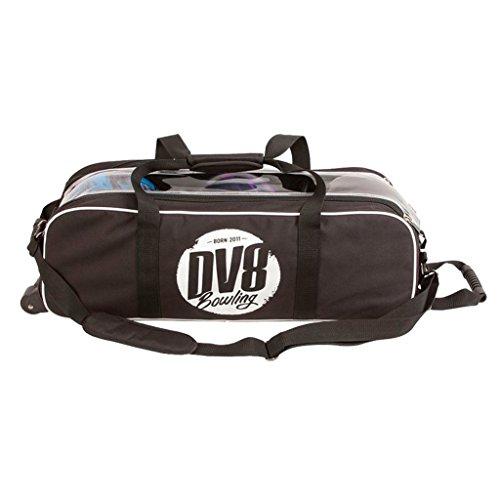 DV8 Tactic Triple Tote No Shoe Pouch Bowling Bag, Black (Best Dv8 Bowling Ball)
