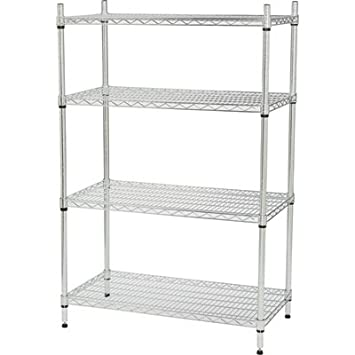 Amazon.com: Strongway Heavy-Duty Wire Shelving System - 4 Shelves ...