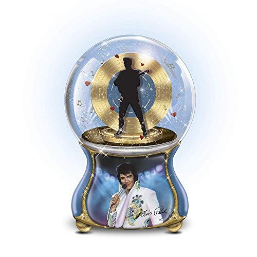 Bradford Exchange Elvis - Bradford Exchange Elvis Presley Love Me Tender Musical Glitter Globe