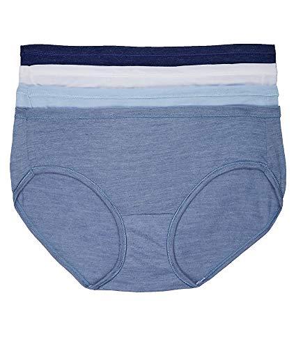 - Hanes Comfort Soft Hipster 4-Pack, 7/L, Blue Assorted