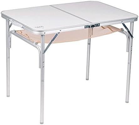 Aluminio plegable, 4 patas de mesa desmontable, 90 x 60 x 30/70 cm ...