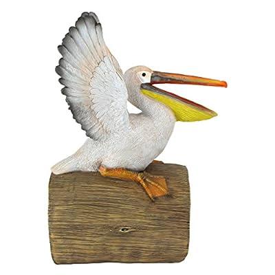 Design Toscano QM2868800 Splash The Pelican Gutter Guardian Downspout Statue, Full Color : Garden & Outdoor