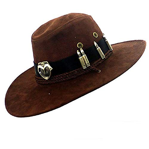 (Lonme McCree Hats Cosplay Game OW Accessory Fancy Cowboy Hat Caps)
