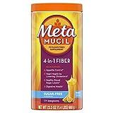 Image of Metamucil Fiber, 4-in-1 Psyllium Fiber Supplement, Sugar-Free Powder, Orange Smooth Flavored Drink, 114 Servings (Packaging May Vary)