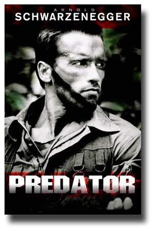 Predator Poster Movie Promo 11 x 17 inches 1980s Arnold Schwarzenegger No Text