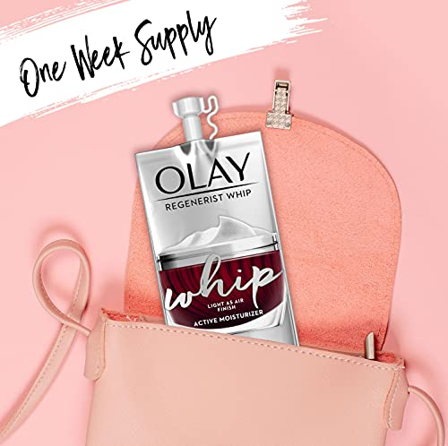 Olay Regenerist Whip Face Moisturizer with Sunscreen SPF40, Collagen Peptides, and Vitamin B3+, 1.7oz + Whip Face Moisturizer Travel/Trial Size Gift Set
