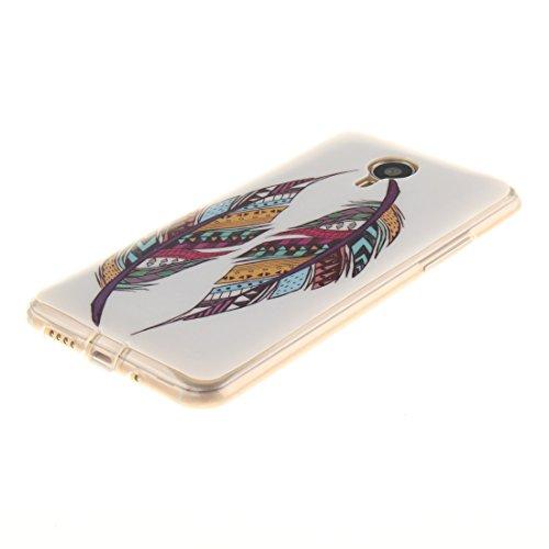 Hozor MX4 Peint Scratch De Cas Téléphone Antichoc Motif TPU Arrière Transparent Souple De Couverture Slim Meizu Bord Feather Résistant En Fit Silicone Protection Cas 55wIq6r