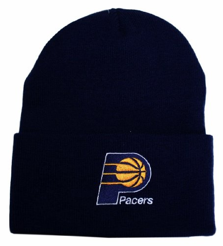 Indiana Pacers Navy Blue Beanie Hat - NBA Cuffed Knit Toque Cap