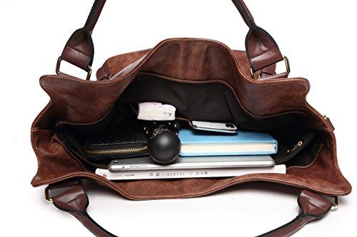 Women Tote Bag Handbags PU Leather Fashion Hobo Shoulder Bags with Adjustable Shoulder Strap