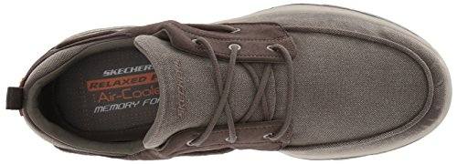Skechers Men's Relaxed Fit-Creston-Vosen Boat Shoe,taupe,7 M US