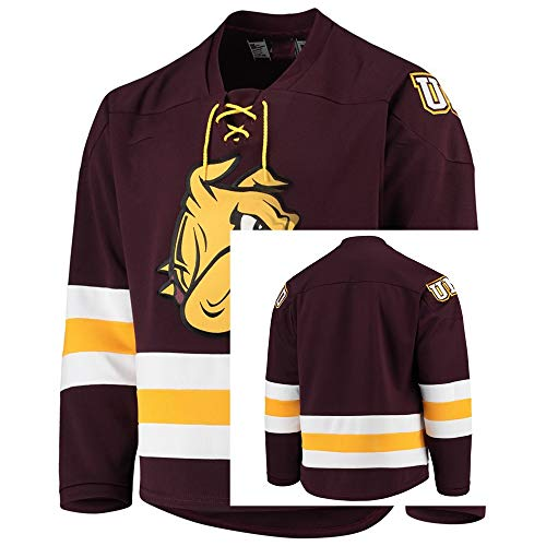 (Anfu Custom College Jersey Duluth Bulldogs Replica Hockey Maroon Jersey XL)