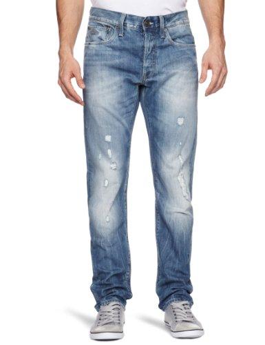 uomo G Blue Light Aged Slim Raw 3301 star Jeans Destroy 0XrY0q