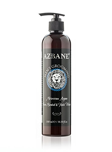 Azbane Moroccan Argan Face Beard & Hair Wash 500 Ml - 16.90 Fl.oz