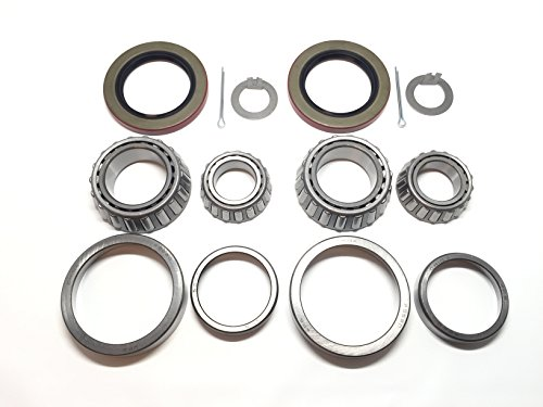 (Set of 2) Trailer Hub Wheel Bearing Kit WPS (TM) 25580 15123 with Grease Seal 10-36 (Or 10-10) for 5200-6000 lb. EZ Lube Axle