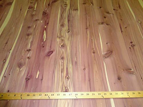 Aromatic Cedar Knotty Plank wood veneer 48