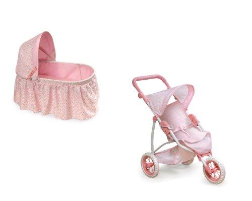 Doll Cradle & Stroller Set Rosebud Cradle/Jogging Stroller