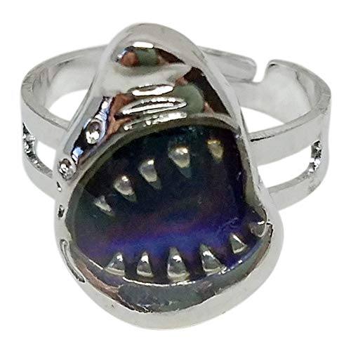 Shark Bite Mood Ring, Adjustable -