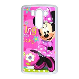 Protection Cover Pyjxl LG G3 White Phone Case Lovely Minnie Mouse Cute Personalized Durable Cases