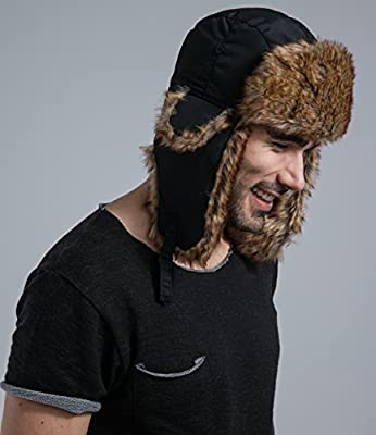 Tough Headwear Trapper Hat - Ushanka Aviator Bomber Hat for Serious Expeditions & Serious Style. Waterproof, Windproof Shell