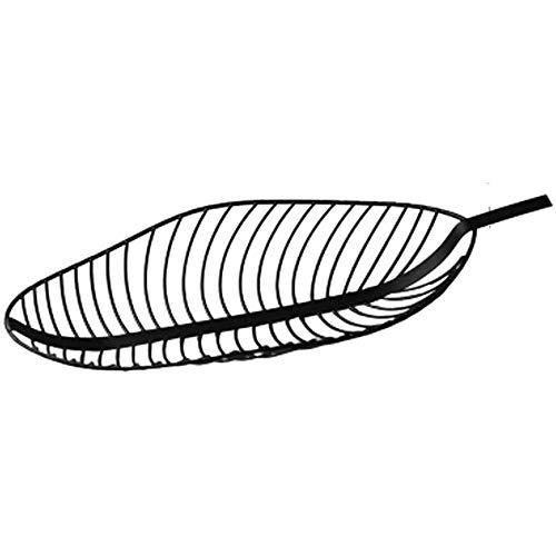 SYXX Alambre de metal de encimera de frutas cesta del almacenaje de soporte for la cocina, Árboles frutales Hoja BowlDecorative Centro de mesa titular for el pan, dulces, Copa K y otros articulos dome