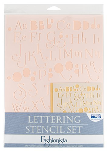 Blue Hills Studio BHS101SET Lettering Stencil Set - Studios Stencil