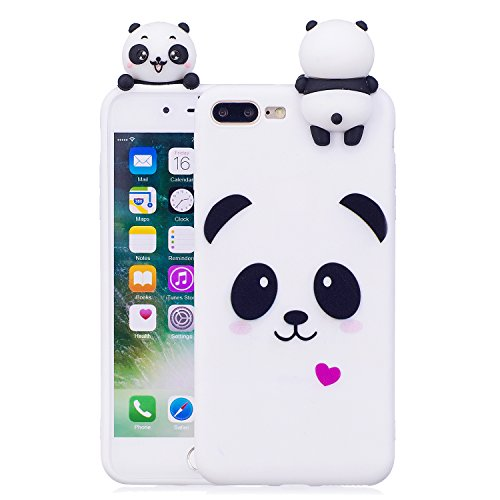 timeless design c0c07 5743e DAMONDY iPhone 8 Plus Case,iPhone 7 Plus Case,3D Cute Cartoon Animals  Pattern Soft Silicone Gel Slim Design Rubber Thin Protective Cover Phone  Case ...