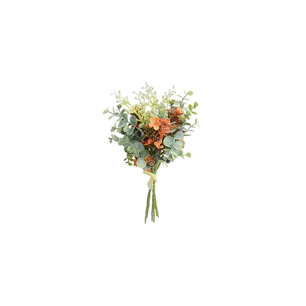 Floral Decor Artificial Leaves Fake Plant Silk Flower Bouquet Office Home Wedding Floral Deco Home Garden Yuki Be