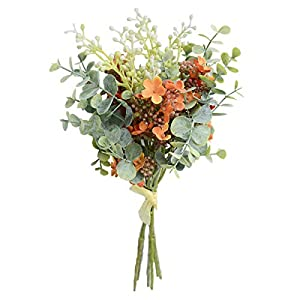 Anna Homey Decor 1Pcs Real Touch Arrangement Bouquet Fake Flowers Artificial for Decoration Wedding Table Hotel Artificial Plants for Home Decor Indoor Floral Arrangements Artificial 26