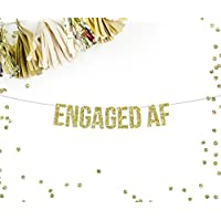 Engaged AF Party Banner | funny engagement bachelorette party decor