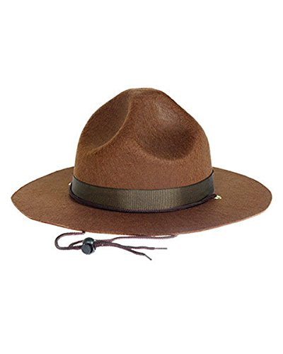 Highway Patrol Drill Sergeant Mountie Police Hat Ranger State Trooper Costume ()