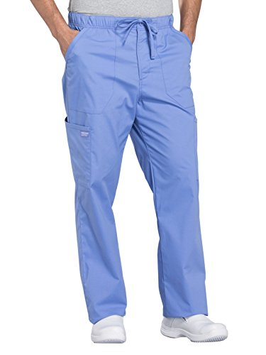 - Cherokee WW Professionals WW190 Men's Tapered Leg Drawstring Cargo Pant Ciel Blue S