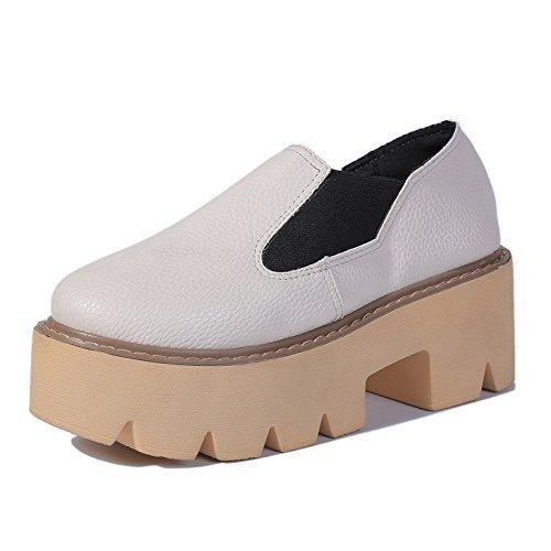 Gruesas Y eight Blanco Panecillo Redonda Thirty Con Y Impermeables KHSKX Cabeza Inglaterra Suelas Arroz En Con Treinta Zapatos Ocho Grueso Botines Con 1Upqw8a