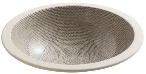 Kohler 2349-HV Vitreous china undermount Round Bathroom Sink, 20.88 x 17.88 x 9.5 inches, Boucle Tweed