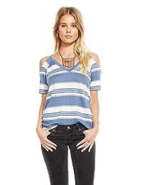 Chaser Clothing Striped Linen Jersey Strappy V-Neck Shirttail Cami